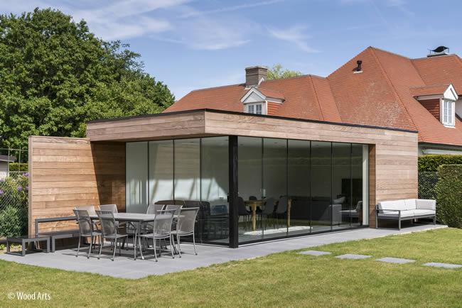 Thuiskantoor Uitbouw Tuin : Houten tuinkamers & gardenroom op maat: prijs & fotos